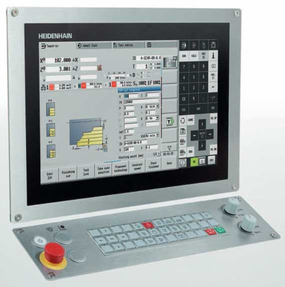 the heidenhain manualp lus 620 control for cnc and cycle lathes