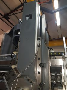Digital readout for vertical lathes