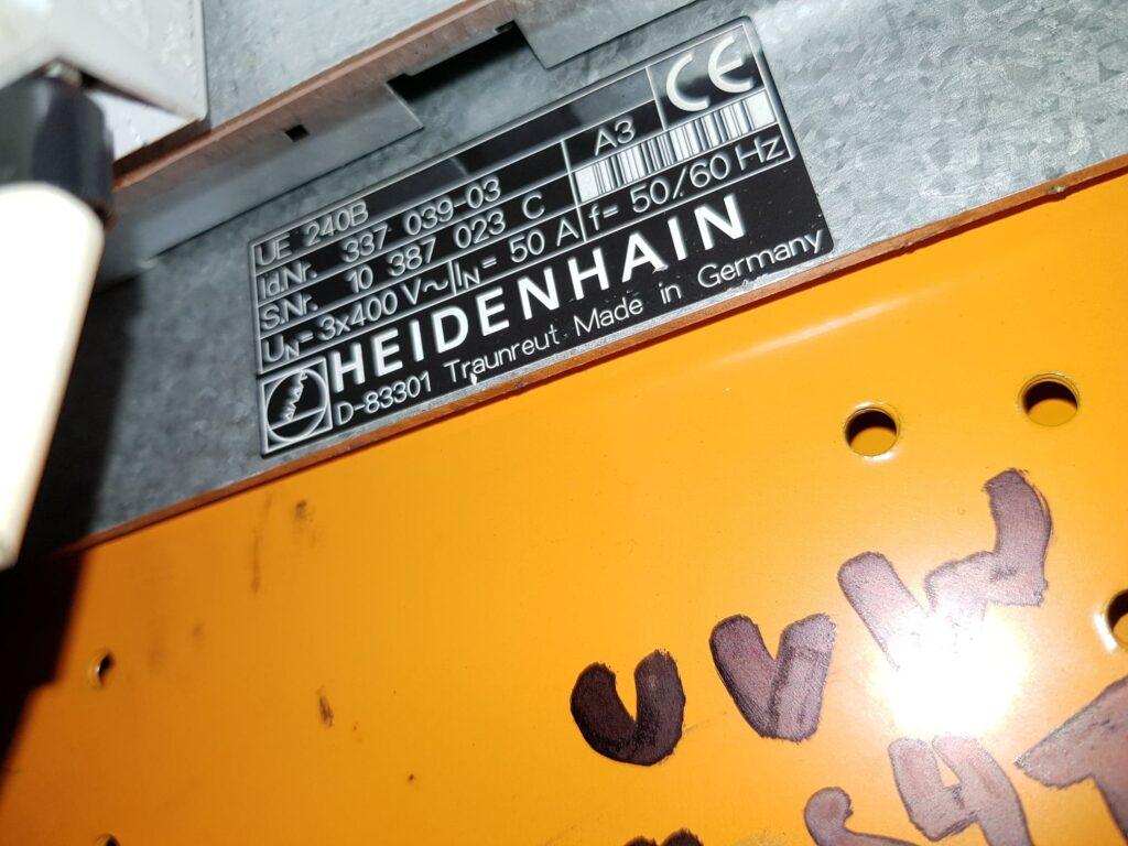 Suspected UE 240B Heidenhain Inverter