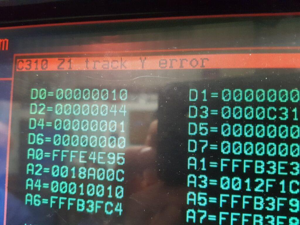 Encoder error message - C310 Z1 track Y error Heidenhain ERN 1387 error