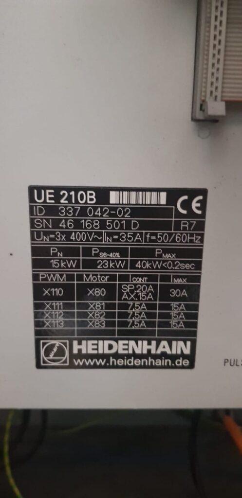 Heidenhain UE 210B inverter fault